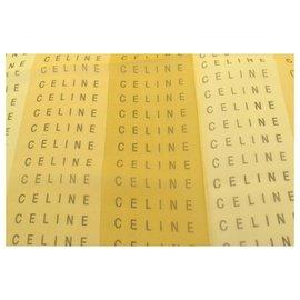 Céline-Celine Silk Scarf Shawl Wrap-Beige