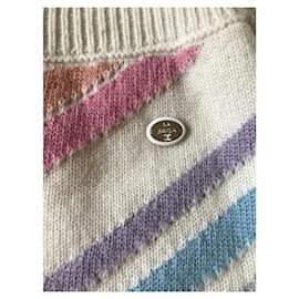 Chanel-Chanel cashmere la pausa skirt-Multiple colors