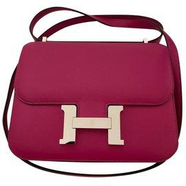 Hermès-Hermes Constance 18 rose pourpre-Rose,Violet