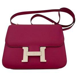 Hermès-Hermes Constance 18 rose pourpre-Pink,Purple