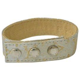 Louis Vuitton-Louis Vuitton Bracelet Monogram Shine Nouveauté-Argenté