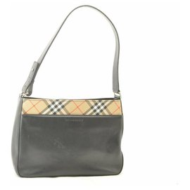 Burberry-Burberry Nova Check Shoulder Bag-Black