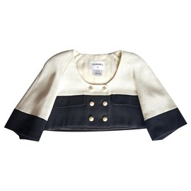 Chanel-Jackets-Black,White