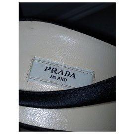 Prada-Sandales satin-Noir