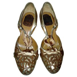 Dior-Sandales cuir-Marron clair
