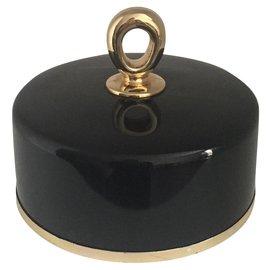 Van Cleef & Arpels-Boite à bijoux ou vide poche  noir et or First Van cleef & Arpels-Noir,Doré