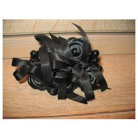Autre Marque-Bracelet Dyrberg / Kern avec perles noires-Noir