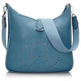 Hermès-Hermes Blue Togo Evelyne 1 MM-Blue