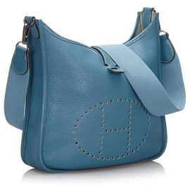 Hermès-Hermes Blue Togo Evelyne 1 MM-Bleu