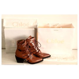 Chloé-Chloé Rylee Ankle Boots-Light brown