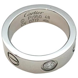 "Cartier-Cartier ring ""Love"" model in platinum, diamond.-Other"