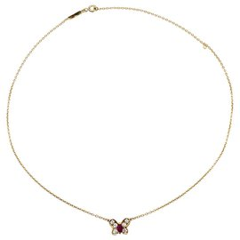 Van Cleef & Arpels-Van Cleef & Arpels necklace, Butterfly, ruby yellow gold and diamonds.-Other