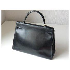 Hermès-Hermès Kelly handbag-Black