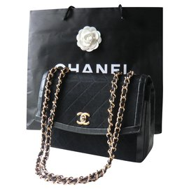 Chanel-Chanel classic fabric bag-Black