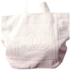 Chanel-Chanel beach tote-White