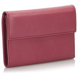Gucci-Gucci Pink Leather Wallet-Pink