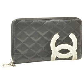 Chanel-Chanel Cambon Line Zippy Lon-Black