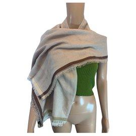 Loro Piana-Cashmere shawl-Brown,Beige