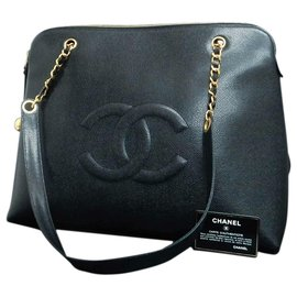 Chanel-Chanel Caviar Shoulder Bag-Black