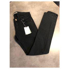 Balmain-Pantalons, leggings-Noir