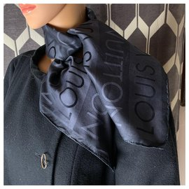 Louis Vuitton-Foulard Louis Vuitton-Gris anthracite