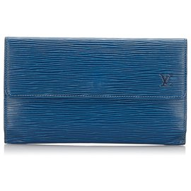 Louis Vuitton-Louis Vuitton Blue Epi Porte Tresor International-Blue
