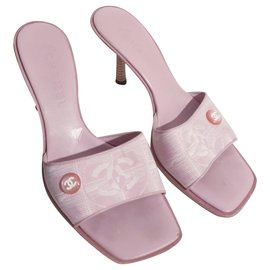 Chanel-Chanel pink mules 38.5-Pink