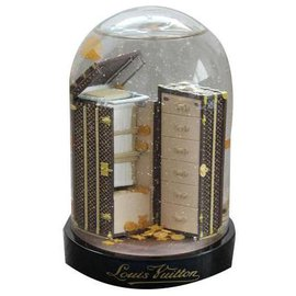 Louis Vuitton-Snowglobe / Snow Ball Malle Cabinet LV (Limited edition)-Brown