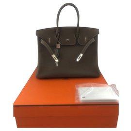 Hermès-Birkin 35-Taupe
