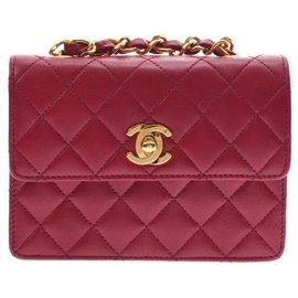 Chanel-Chanel Vintage Sac à bandoulière-Rouge