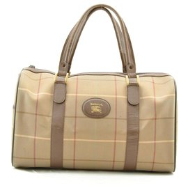 Burberry-Burberrys Nova Check Nylon Hand bag-Brown
