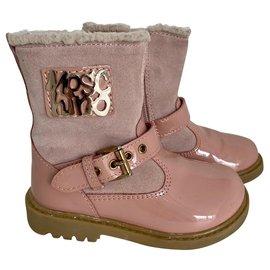 Moschino-Stiefel-Pink