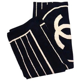 Chanel-new Chanel towel-Black,Beige