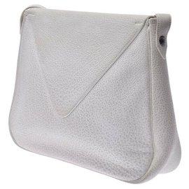 Hermès-Hermès Vintage Shoulder Bag-White