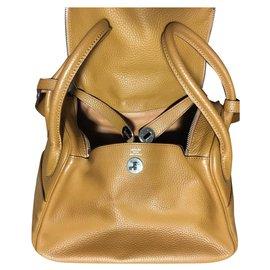 Hermès-Hermes Lindy Gold avec quincaillerie Palladium 30cm NWOT-Caramel
