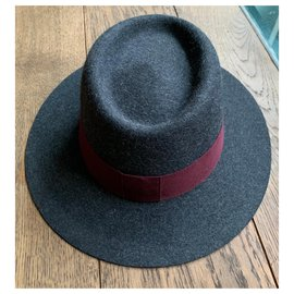 Maison Michel-Hats-Dark grey