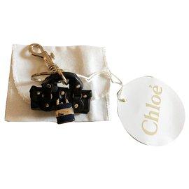 Chloé-bijou de sac ou porte clef CHLOÉ-Noir,Doré