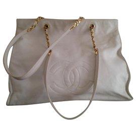 Chanel-Modèle Shopping Blanc 1993/1995-Blanc