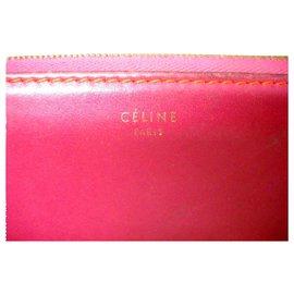 Céline-CELINE zipped wallet-Orange,Fuschia