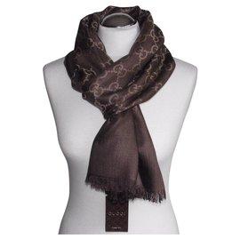 Gucci-scarf brown. gucci new-Brown