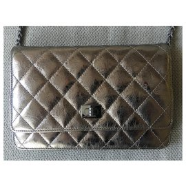 Chanel-Backpacks-Bronze