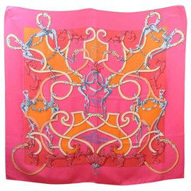 "Hermès-Hermès Scarf """"L' instruction du Roy""""-Pink"