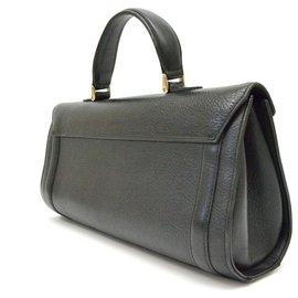 Burberry-Burberry Cartable en cuir-Noir