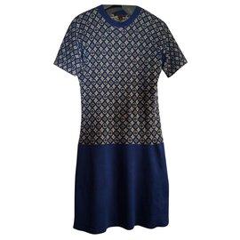 Louis Vuitton-Robes-Bleu