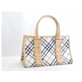 Burberry-Burberry Nova Check Hand Bag-Beige