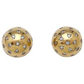 Van Cleef & Arpels-Boucles d'oreilles Van Cleef & Arpels en or jaune et diamants.-Autre