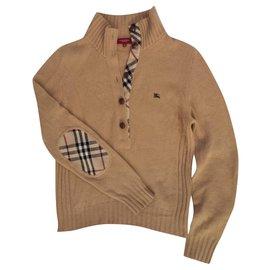 Burberry-Knitwear-Caramel