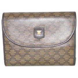 Céline-CELINE vintage wallet Macadam flap-Brown