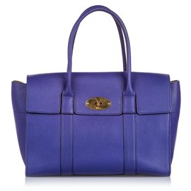 Mulberry-Mulberry Blue Small New Bayswater Handbag-Blue