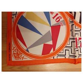 Hermès-silk game-Orange